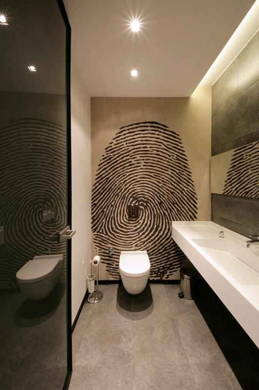Papier peint original l 39 atelier des couleurs - Deco originele toiletten ...