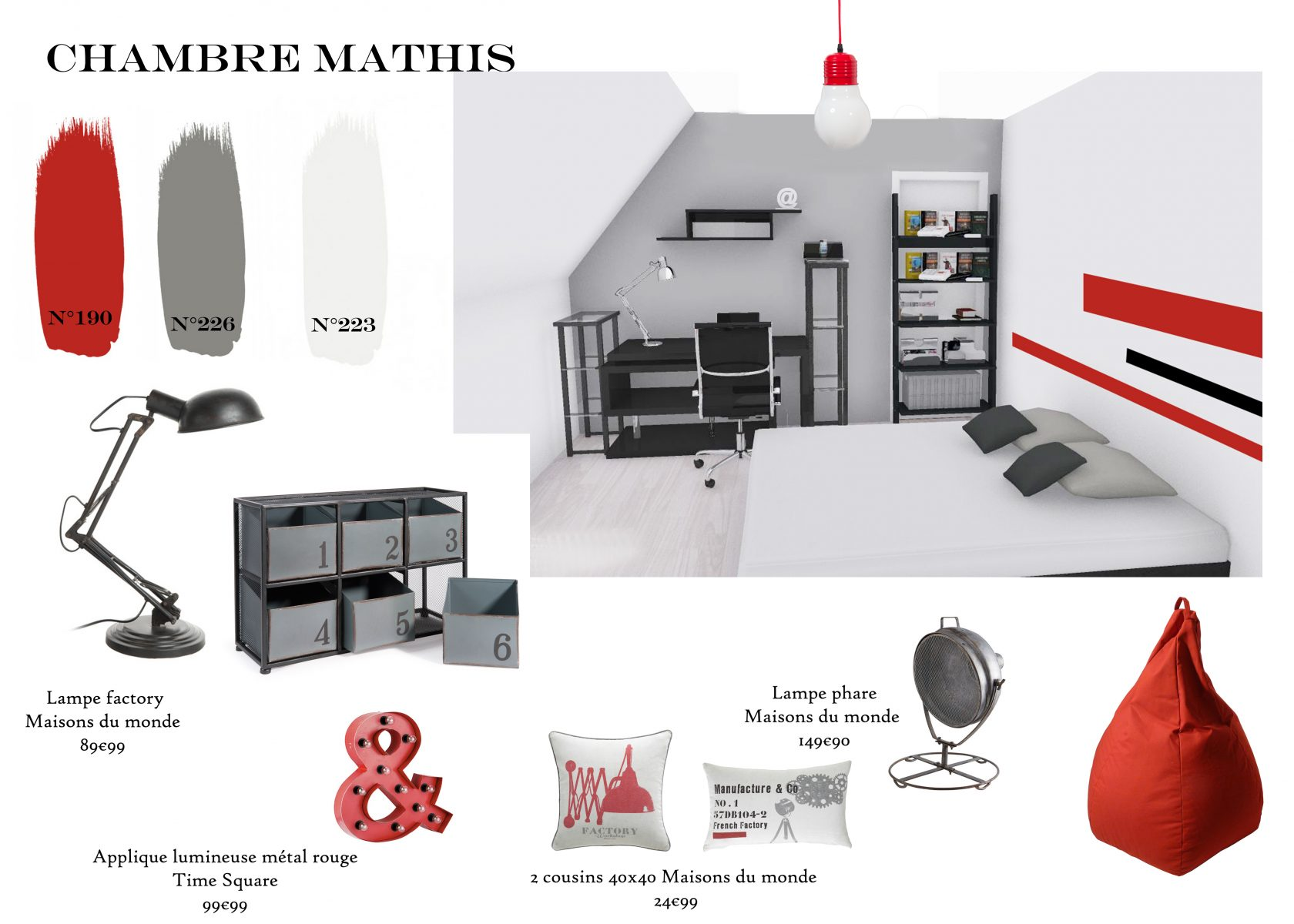 Chambre-Mathis-1 Couleur & Peinture Little Greene