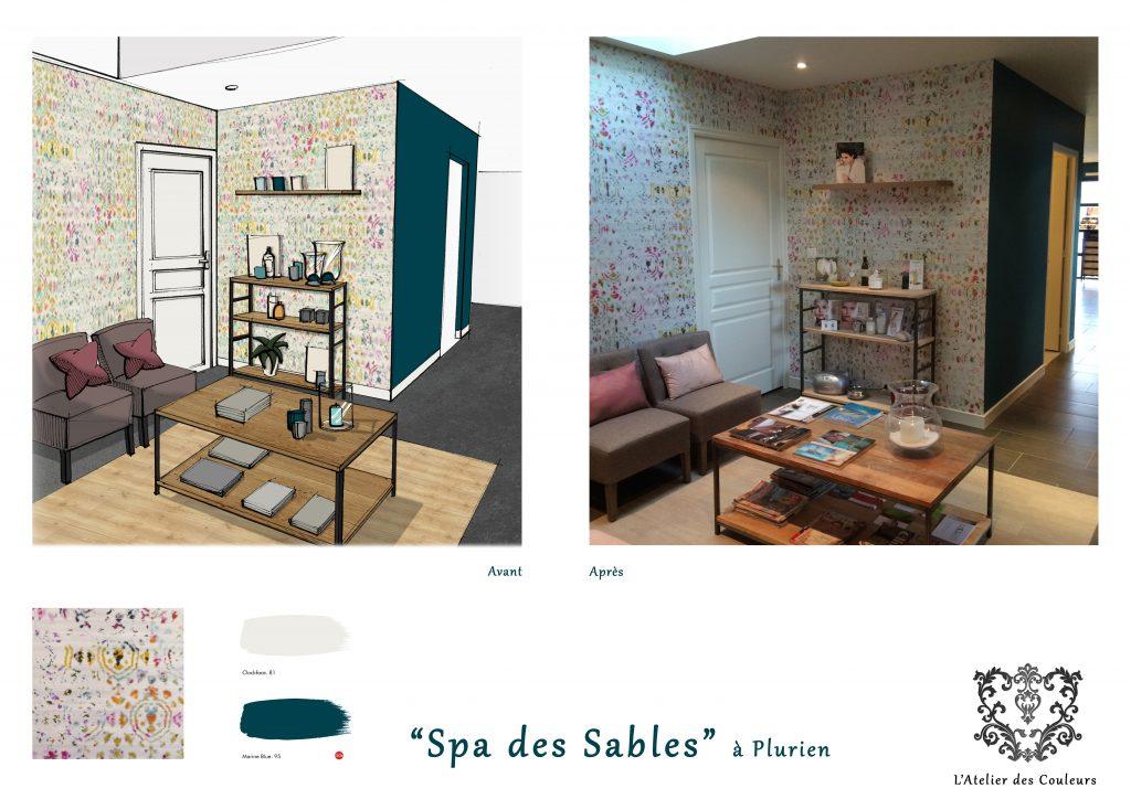 avant-apres-spa-des-sables-planche-1024x724 Décoration et Aménagement d'un Show Room