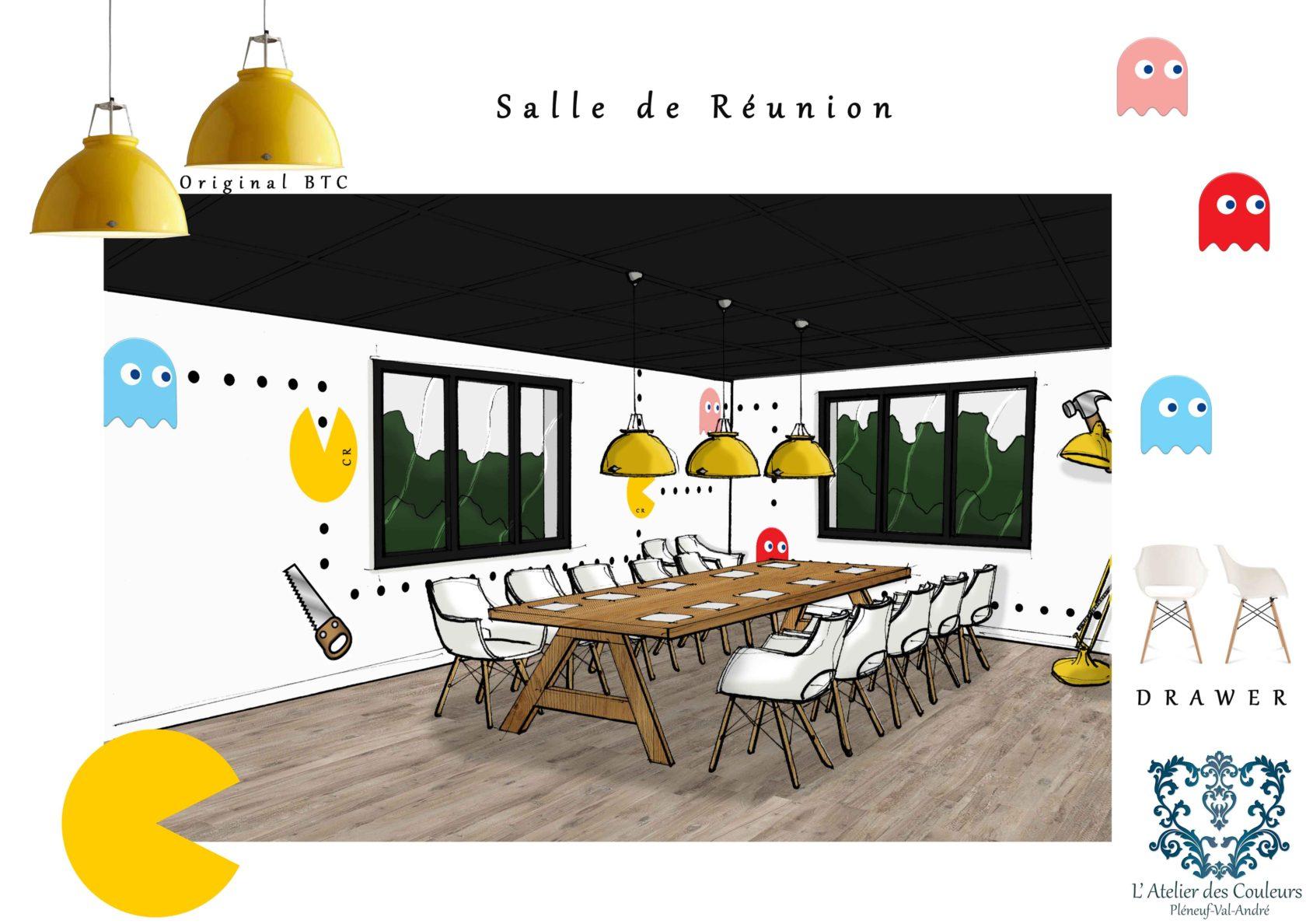 la d coration d un showroom l 39 atelier des couleurs. Black Bedroom Furniture Sets. Home Design Ideas